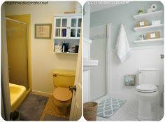 half bathroom makeovers before and after. diy project parade and half bathroom before after . makeovers o