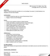 sample-resume-dental-assistant-skills-checklist