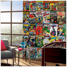 on marvel comic book wall mural with marvel comic book covers jl1176m wall mural