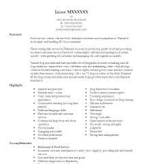 Resume Examples For Fast Food Emelcotest Com