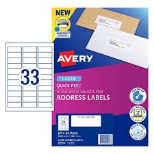 Avery Label Sizes Chart All Labels Avery Australia