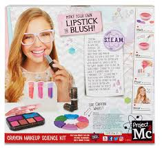 crayon makeup science kit toy use the included crayons in the project mc2 s favorite colors to create your own shades and blends