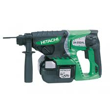 hitachi battery drill. hitachi dh25dal 25.2v cordless sds-plus hammer drill battery