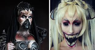 extreme make up art inspired by dark fantasy world