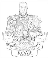 Game Of Thrones 3 Tv Shows Printable Coloring Pages
