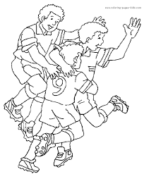 Soccer Goal Color Page Coloring Pages For Kids Sports Coloring