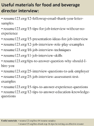 Food Beverage Manager Resume No Experience Catering