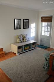 Living Room Bench With Storage How To Build A Bench With Storage