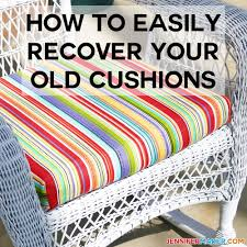 how to recover your old outdoor cushions easily quickly jennifermaker com