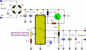 v a adjustable regulated dc power supply community 3 to 30 volt 3 ampere dc power supply circuit diagram