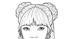 These coloring pages for girls offer positive pictures for girls to color and hang in their rooms. Coloring Pages Of Cute Girls Cinebrique