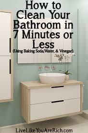 how to clean your bathroom in 7 minutes or less with regard baking soda bathtub plan