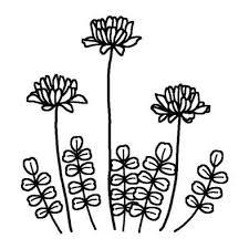 レンゲソウ2春の花無料白黒イラスト素材 Hint Pint イラスト