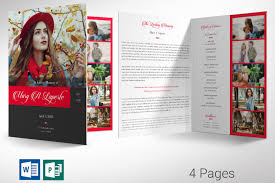 Remember Me Funeral Program Word Publisher Large Template