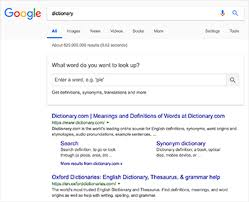 Word Origins Website Google Dictionary Wikipedia