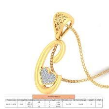letter c script gold pendant with diamonds 3d model stl 3dm 1