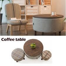 100 Wood Coffice Table Pure cotton cloth font b rustic b font Wood font b furniture