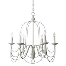 white metal chandelier pannier 6 light white chandelier distressed white iron chandelier