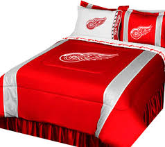 sports coverage nhl detroit red wings bed set hockey logo