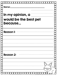 Opinion Writing: Pets | Writing worksheets, Worksheets and Students