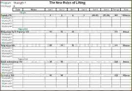 Excel Spreadsheet Templates For Tracking Training Workout Spreadsheet Excel Weight Training Spreadsheet Template