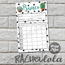 Bunco Score Sheets Template Awesome Cactus Bunco Score Card Score Sheet Bunko Summer Party Etsy