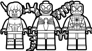 lego spiderman and venom hulk coloring book pages
