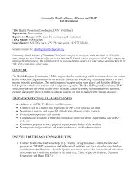 ... LVN resume sample no experience lvn cover letter templates promotion resume  sample community health alliance of ...