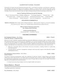 Sample Teaching Resume Enchanting Example Teacher Resume Example Of A Resume For A Teacher Resume