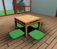 Engaging Mod Sims Japanese Low Table Bon in Japanese Dining Table