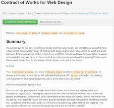 Basic Contract Outline Where To Find Web Design Contract Templates For Web Design