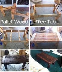pallet furniture coffee table. DIY Pallet Wood Coffee Table Furniture