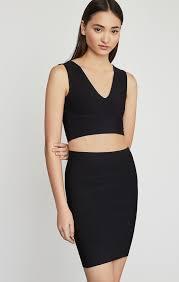 Bcbgeneration Shoe Size Chart Simone Textured Power Skirt Black Bcbg Com Bcbg Com