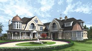 shingle style house plans. The Circular Driveway And Wrap Around Porch Give This Home An Elegant Yet Charming Appeal. Shingle Style House Plans