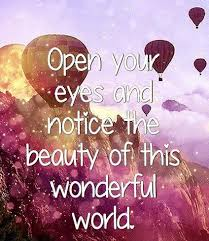 Beauty Of The World Quotes Best of Open Your Eyes And Notice The Beauty Of This Wonderful World