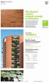 Design Tree Bangalore Pay 5 Now And Rest On Handover At Total Environment The