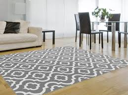 Interior Beautiful Ft X Gray And White Moroccan Area Rug For