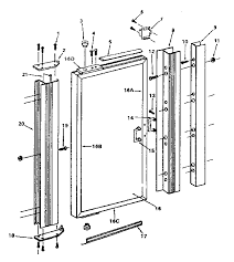 images of shower door repair parts