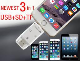 3in1 usb micro sd tf sdhc card reader writer for iphone 6 6s 7 plus 5 5s se ipad mini 2 3 air pro samsung htc lg all otg phones in hair clips
