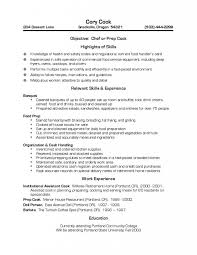 Cook Resume Examples 58 Images Cooks Resume Resume Templates