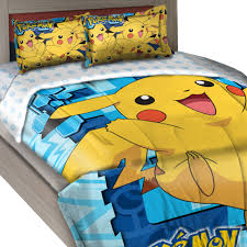 pokemon twin full comforter set big pikachu bedding