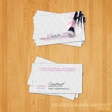 make up artist business card by thestrangeartist