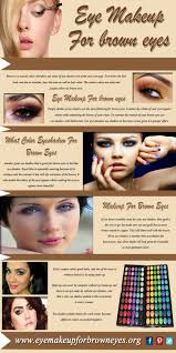 eye makeup for brown eyes infographic