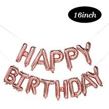 Happy Birthday Balloons Banner Happy Birthday Balloons Rose Gold Happy Birthday Foil Balloons