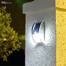 solar outdoor wall light solar wall lights outdoor solar power fence gutter light lamp 3 led