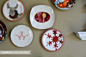 Peachy Decorative Christmas Plates Most 12 Days Of Easy Decorating Plate  Wall