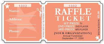 Sample Raffle Ticket Templates Raffle Tickets Ticket