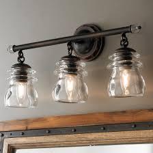 industrial bath lighting. Insulator Glass 3-Light Bath Light Industrial Lighting E