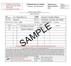 Sample Of Bill List Template And Lading Samples Basic Meeting Agenda