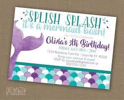 Photo Party Invitations Mermaid Birthday Party Invitation Printable Invitation